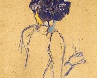 Jane Avril Seen from the Back — Анри де Тулуз-Лотрек