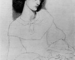 Jane Burden, aged 18 — Данте Габриэль Россетти