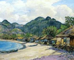 Японская деревня — Давид Бурлюк