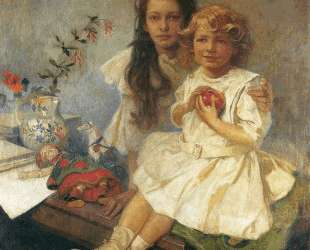 Jaroslava and Jiri The Artist s Children — Альфонс Муха