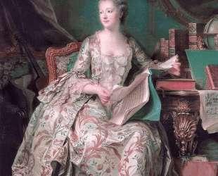 Jeanne Antoinette Poisson, Marquise de Pompadour — Морис Кантен де Латур