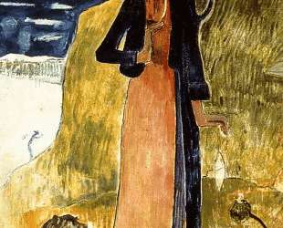 Жанна Д'Арк или бретонка с прялкой — Поль Гоген