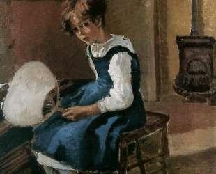 Jeanne Holding a fan — Камиль Писсарро