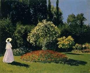 Жанна-Маргарита Лекадр в саду — Клод Моне