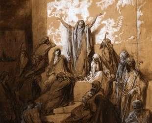 Иеремия проповедует своим последователям — Гюстав Доре