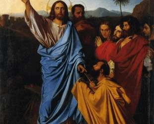 Иисус возвращает ключи Св. Петру — Жан Огюст Доминик Энгр