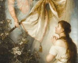 Joan of Arc Kneeling before Angel — Генрих Семирадский