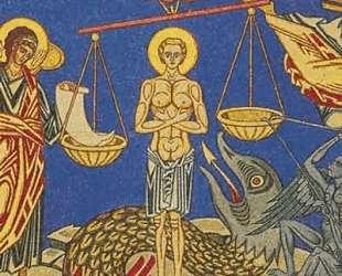 Страшный суд. Эскиз фрески для храма Успения Богородицы в Ольшанах — Иван Билибин