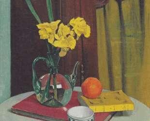 Jug with yellow primroses — Феликс Валлотон