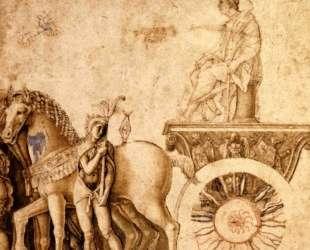 Julius Caesar on his triumphal car — Андреа Мантенья