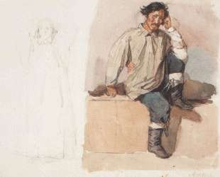 Хакас с закованными в цепи ногами — Василий Суриков