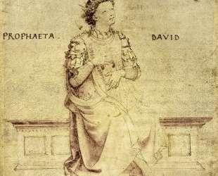 Царь Давид играет на гуслях — Фра Анджелико