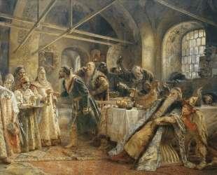 Поцелуйный обряд (Пир у боярина Морозова) — Константин Маковский
