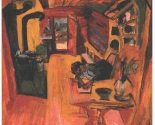 Kitchen in an Alpine Hut — Эрнст Людвиг Кирхнер