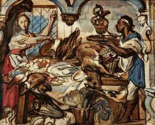 Kitchen scene — Якоб Йорданс