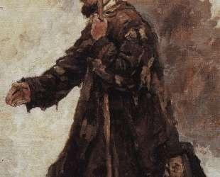 Нищий, стоящий на коленях — Василий Суриков