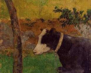 Лежащая корова — Поль Гоген