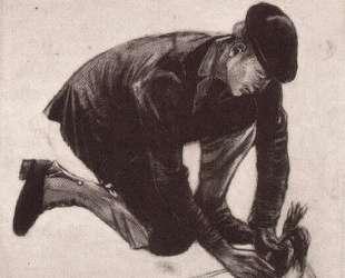 Kneeling Man, Planting — Винсент Ван Гог