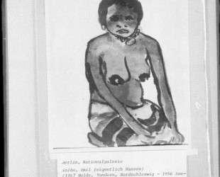 Kneeling negro girl — Эмиль Нольде
