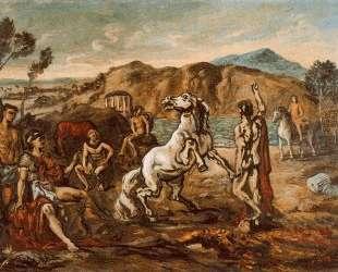 Рыцари и лошади у моря — Джорджо де Кирико