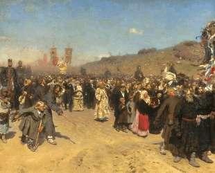 Krestny Khod (Religious Procession) in Kursk Gubernia — Илья Репин