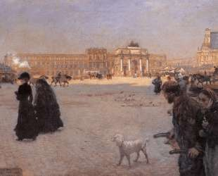 La Place du Carrousel, Paris: The Ruins of the Tuileries — Джузеппе Де Ниттис