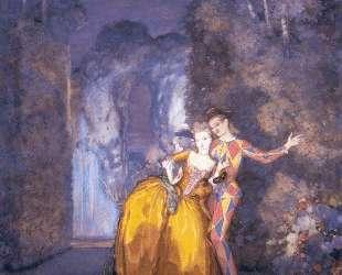 Арлекин и дама (Фейерверк) — Константин Сомов