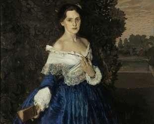 Дама в голубом. Портрет Е. М. Мартыновой — Константин Сомов