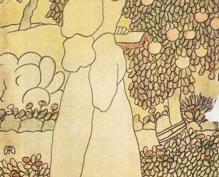 Lady in her garden — Йожеф Рипль-Ронаи
