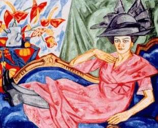 Lady in pink (Artist's sister Anna Rozanova) — Ольга Розанова