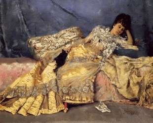 Lady On A Pink Divan — Юлиус Леблан Стюарт