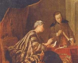Lady Sealing a Letter — Жан Батист Симеон Шарден