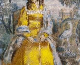 Дама у гобелена (Портрет Н. Ю.Станюкович) — Виктор Борисов-Мусатов