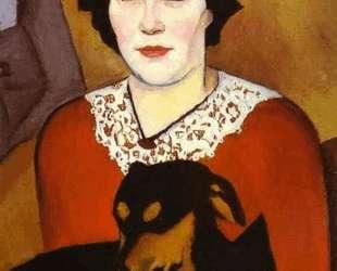 Женщина с собакой. Портрет Эстер Шварцман — Натан Альтман