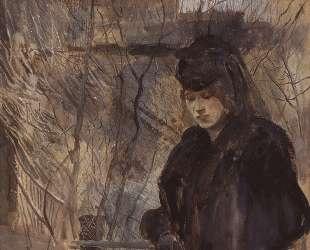 Дама с весенним пейзажем — Константин Сомов