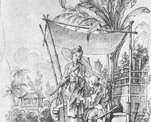 Дама с зонтиком — Франсуа Буше