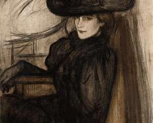Lady with Black Veil — Йожеф Рипль-Ронаи