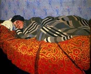 Laid down woman, sleeping — Феликс Валлотон
