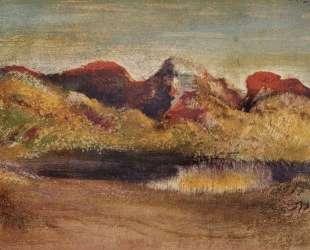 Озеро и горы — Эдгар Дега