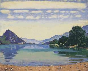 Lake Thun from Lessig — Фердинанд Ходлер