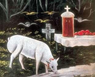 Ягненок и парящие ангелы — Нико Пиросмани