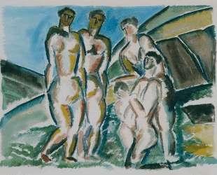 Landscape and bathers — Осип Цадкин