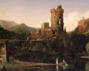 Пейзаж. Композиция. (Итальянский пейзаж) — Камиль Коро