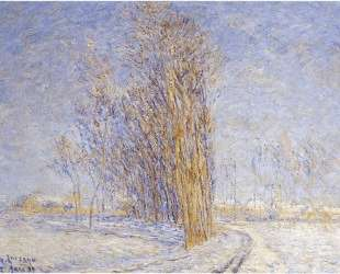 Landscape in Snow — Гюстав Луазо