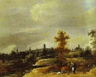 Landscape in the Suburbs of Brussels — Давид Тенирс Младший