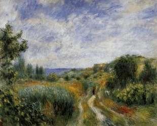 Landscape near Essoyes — Пьер Огюст Ренуар