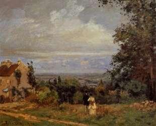 Landscape near Louveciennes — Камиль Писсарро