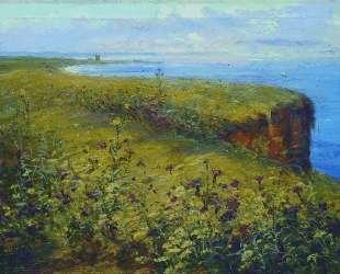 Пейзаж (Море и цветы) — Константин Маковский