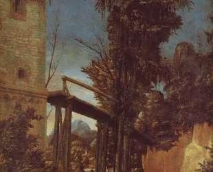 Пейзаж с мостиком — Альбрехт Альтдорфер