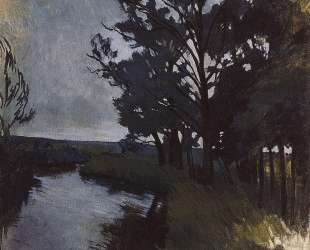 Пейзаж с рекой — Зинаида Серебрякова